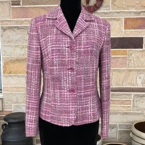 Ann Taylor Wool Blend Tweed Blazer